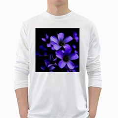 Springtime Flower Design White Long Sleeve T-shirts by timelessartoncanvas