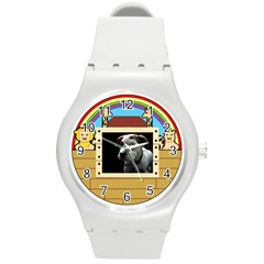 But The Pit Bull Round Plastic Sport Watch (m) by ButThePitBull