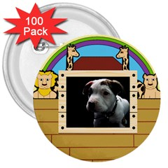 But The Pit Bull 3  Buttons (100 Pack)  by ButThePitBull