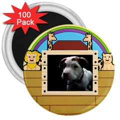 But The Pit Bull 3  Magnets (100 Pack) by ButThePitBull