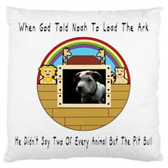 But The Pit Bull Large Cushion Cases (one Side)  by ButThePitBull