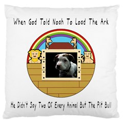 But The Pit Bull Large Flano Cushion Cases (two Sides)  by ButThePitBull