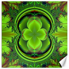 Green Clover Canvas 16  X 16   by Delasel