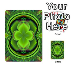 Green Clover Multi Purpose Cards (rectangle)  by Delasel