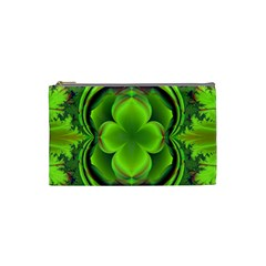 Green Clover Cosmetic Bag (small)  by Delasel