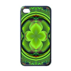 Green Clover Apple Iphone 4 Case (black) by Delasel
