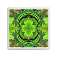 Green Clover Memory Card Reader (square)  by Delasel