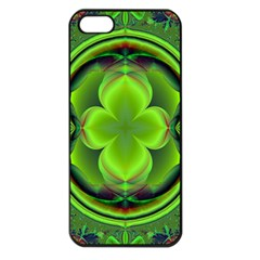 Green Clover Apple Iphone 5 Seamless Case (black) by Delasel