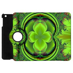Green Clover Apple Ipad Mini Flip 360 Case by Delasel