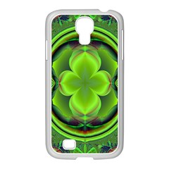 Green Clover Samsung Galaxy S4 I9500/ I9505 Case (white) by Delasel