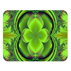 Green Clover Double Sided Flano Blanket (large)  by Delasel