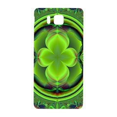 Green Clover Samsung Galaxy Alpha Hardshell Back Case by Delasel