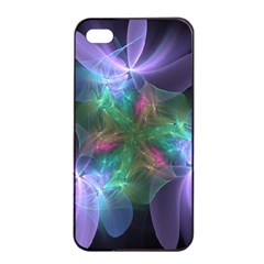 Ethereal Flowers Apple Iphone 4/4s Seamless Case (black) by Delasel