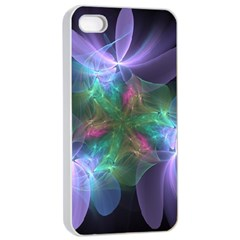 Ethereal Flowers Apple Iphone 4/4s Seamless Case (white) by Delasel
