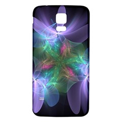 Ethereal Flowers Samsung Galaxy S5 Back Case (white) by Delasel