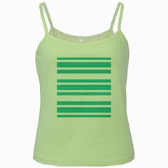 Teal Adn White Stripe Designs Green Spaghetti Tanks by timelessartoncanvas