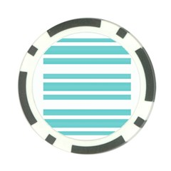 Teal Adn White Stripe Designs Poker Chip Card Guards (10 Pack)  by timelessartoncanvas