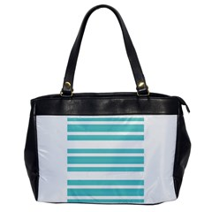 Teal Adn White Stripe Designs Office Handbags by timelessartoncanvas
