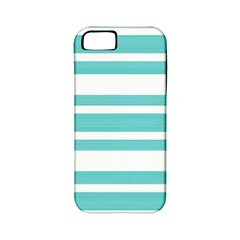 Teal Adn White Stripe Designs Apple Iphone 5 Classic Hardshell Case (pc+silicone) by timelessartoncanvas