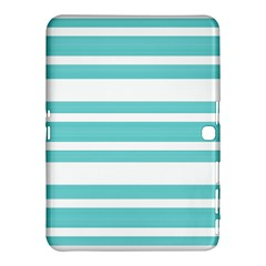 Teal Adn White Stripe Designs Samsung Galaxy Tab 4 (10 1 ) Hardshell Case  by timelessartoncanvas