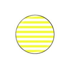 Bright Yellow And White Stripes Hat Clip Ball Marker