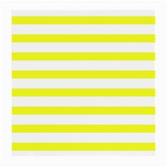 Bright Yellow And White Stripes Medium Glasses Cloth by timelessartoncanvas