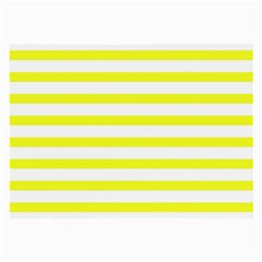 Bright Yellow And White Stripes Large Glasses Cloth by timelessartoncanvas