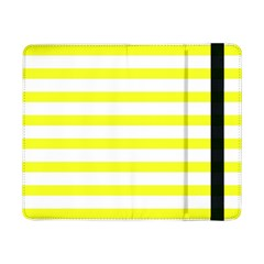Bright Yellow And White Stripes Samsung Galaxy Tab Pro 8 4  Flip Case by timelessartoncanvas