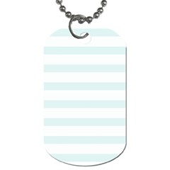 Baby Blue And White Stripes Dog Tag (one Side) by timelessartoncanvas