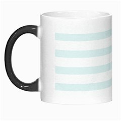 Baby Blue And White Stripes Morph Mugs by timelessartoncanvas