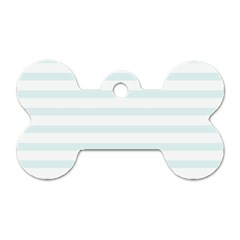 Baby Blue And White Stripes Dog Tag Bone (two Sides) by timelessartoncanvas