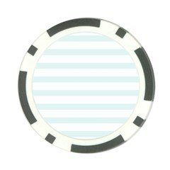 Baby Blue And White Stripes Poker Chip Card Guards (10 Pack)  by timelessartoncanvas