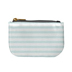 Baby Blue And White Stripes Mini Coin Purses