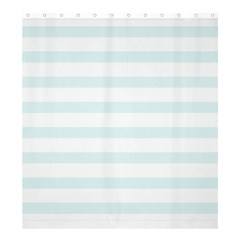 Baby Blue And White Stripes Shower Curtain 66  X 72  (large)  by timelessartoncanvas
