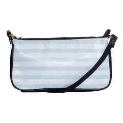 Baby Blue And White Stripes Shoulder Clutch Bags by timelessartoncanvas