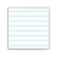 Baby Blue And White Stripes Memory Card Reader (square)  by timelessartoncanvas
