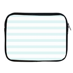 Baby Blue And White Stripes Apple Ipad 2/3/4 Zipper Cases by timelessartoncanvas
