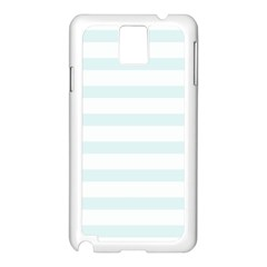 Baby Blue And White Stripes Samsung Galaxy Note 3 N9005 Case (white) by timelessartoncanvas