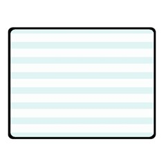 Baby Blue And White Stripes Double Sided Fleece Blanket (small)  by timelessartoncanvas