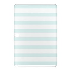 Baby Blue And White Stripes Samsung Galaxy Tab Pro 12 2 Hardshell Case by timelessartoncanvas