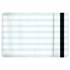 Baby Blue And White Stripes Ipad Air 2 Flip by timelessartoncanvas