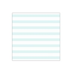 Baby Blue And White Stripes Satin Bandana Scarf by timelessartoncanvas