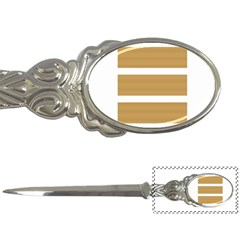 Beige/ Brown And White Stripes Design Letter Openers by timelessartoncanvas