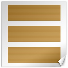 Beige/ Brown And White Stripes Design Canvas 20  X 20   by timelessartoncanvas
