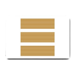 Beige/ Brown And White Stripes Design Small Doormat  by timelessartoncanvas