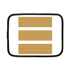 Beige/ Brown And White Stripes Design Netbook Case (small)  by timelessartoncanvas