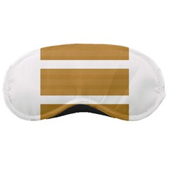 Beige/ Brown And White Stripes Design Sleeping Masks by timelessartoncanvas