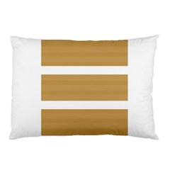 Beige/ Brown And White Stripes Design Pillow Cases (two Sides)