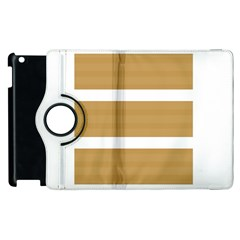 Beige/ Brown And White Stripes Design Apple Ipad 2 Flip 360 Case by timelessartoncanvas