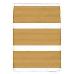 Beige/ Brown And White Stripes Design Flap Covers (l)  by timelessartoncanvas